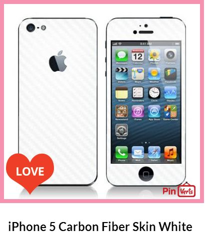 The New White Carbon Fiber Skin from iCoverSkin.com, the cool way to protect the FULL BODY of your new iPhone 5 while giving it a cool new look! Check out at http://pinverts.com/iPhone-5-Carbon-Fiber-Skin-White_17afdjy