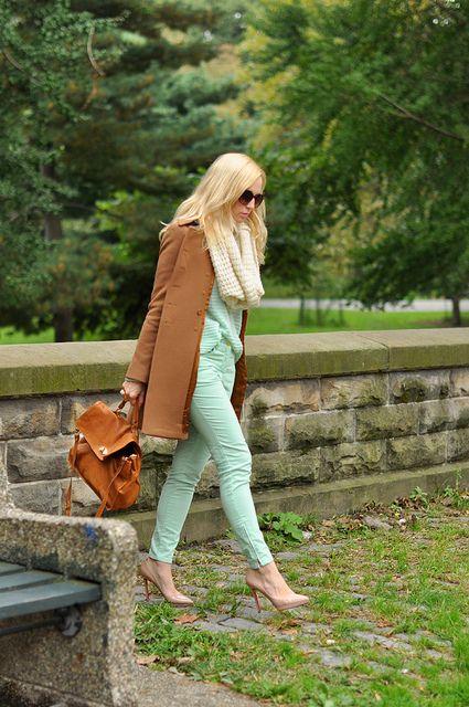 Mint Green & Camel by BrooklynBlonde1, via Flickr
