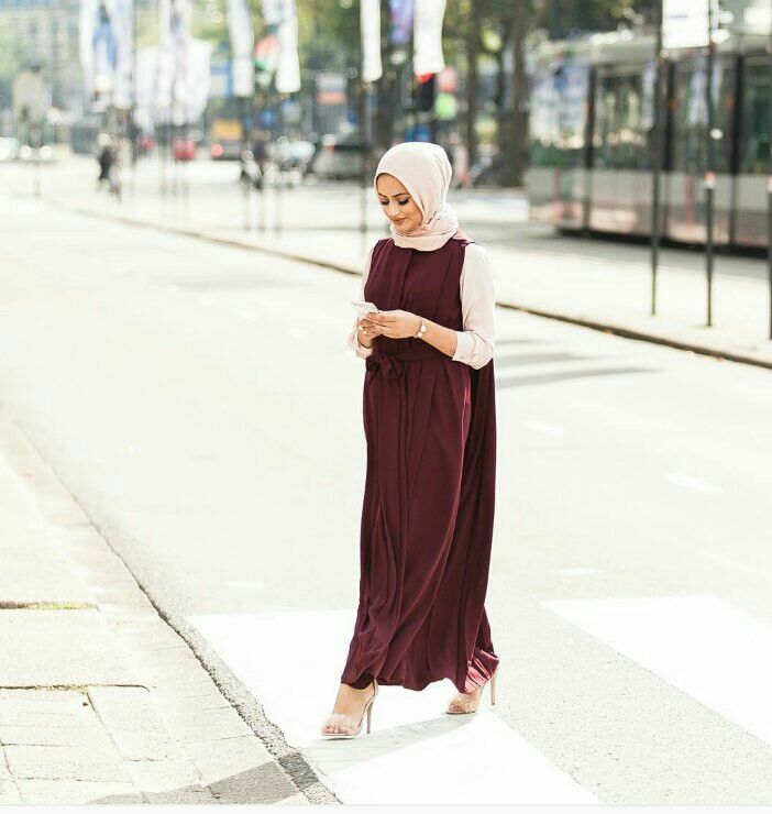 Strolling down the street. This #hijab outfit though. #muslimah                                                                                                                                                      More