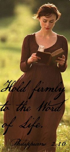 Hold firmly to the Book of Life. Philippians 2:16