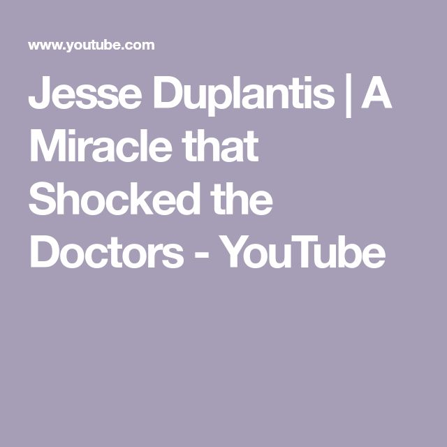 Jesse Duplantis | A Miracle that Shocked the Doctors - YouTube