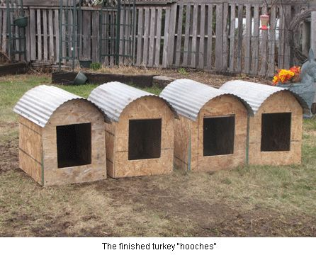 Hooches. Turkey Nest Boxes