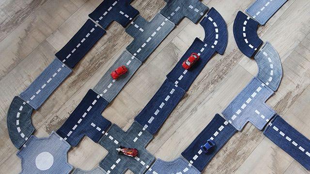 Autobaan voor kids | Vitaya Van oude jeans-broeken!