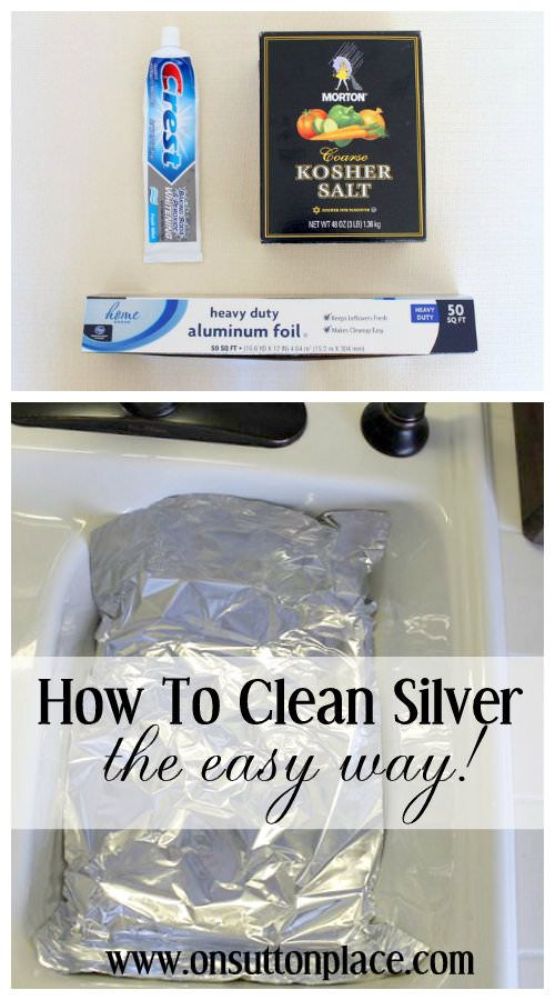 How to Clean Silver ~ the easy way!
