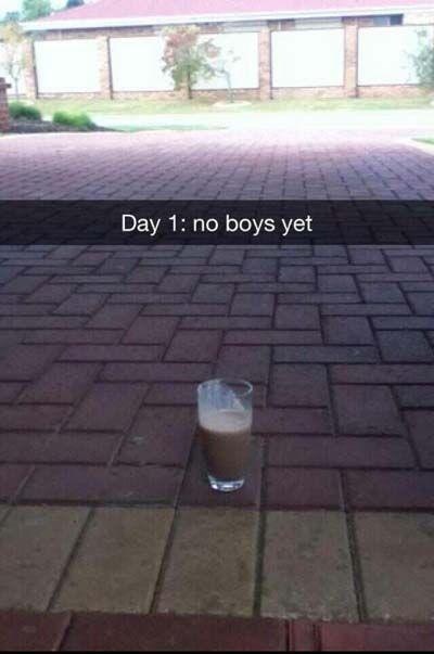 Funny Snapchat Pictures: My milkshake brings all the boys to the yard. bahahahahahahahahaha