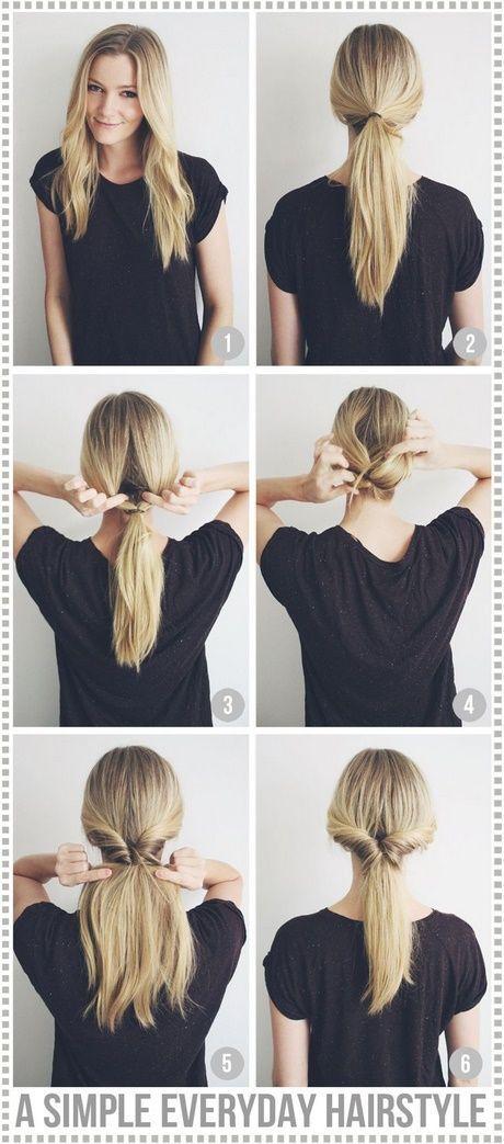 Nette, einfache, alltägliche Frisuren #flechtfrisuren #schnelle #pinterest #ide