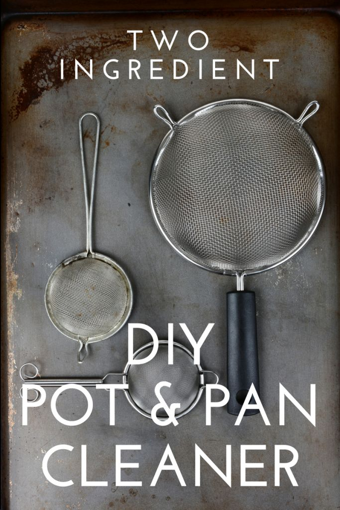 The easiest TWO Ingredient DIY Pan Cleaner with products you have at home NOW!  Get that sticky residue off your cookie sheets!