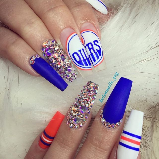 GOOO OILERSSSSSS!!!!!!!!! @Edmontonoilers @mcdavid97 #workwithLOVE #yegnails #oilers #hockey #stanleycup #playoffs# #780nails#edmontonnails#yeg#780#yyc#yvr#yycnails#yvrnails#nailprodigy#nailitdaily#tmblrfeature#thenaillife#nailswag#bling#cute#love#fun#vegasnails#nailsonfleek#naillife#nailpro#nailsmagazine