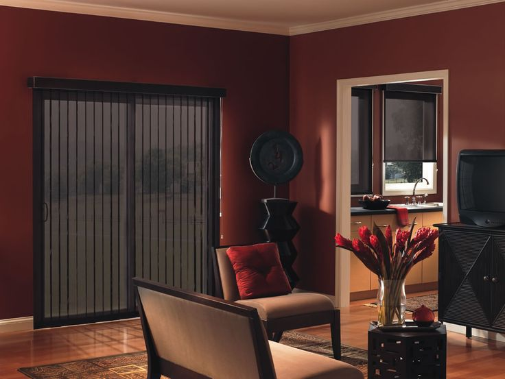 Marvelous Vertical Blind Ideas Featuring Transparent Brown Vertical Blinds ...