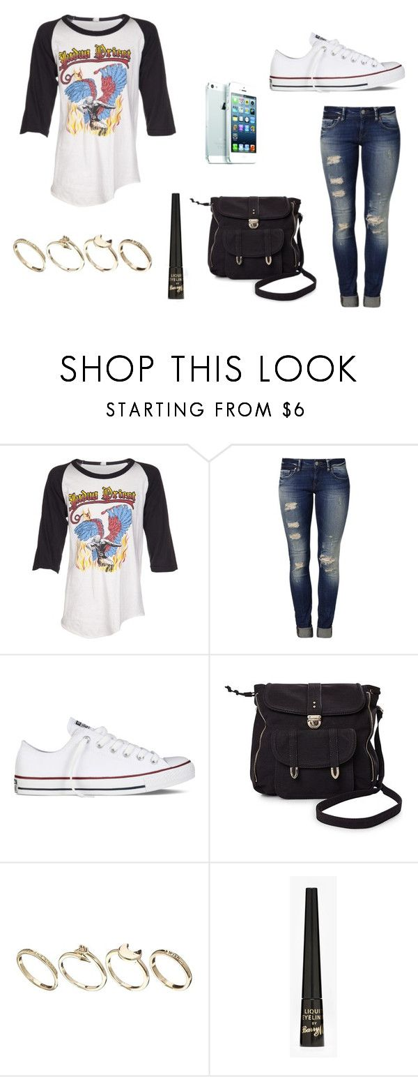 """""""Child in time"""" by wild-world ❤ liked on Polyvore featuring Vintage, Mavi, Converse, Pieces, ASOS, Barry M and judaspriest"""