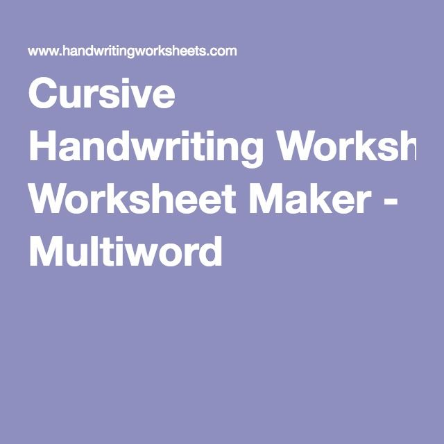 Worksheet Free Handwriting Worksheet Maker 1000 ideas about handwriting worksheet maker on pinterest cursive multiword