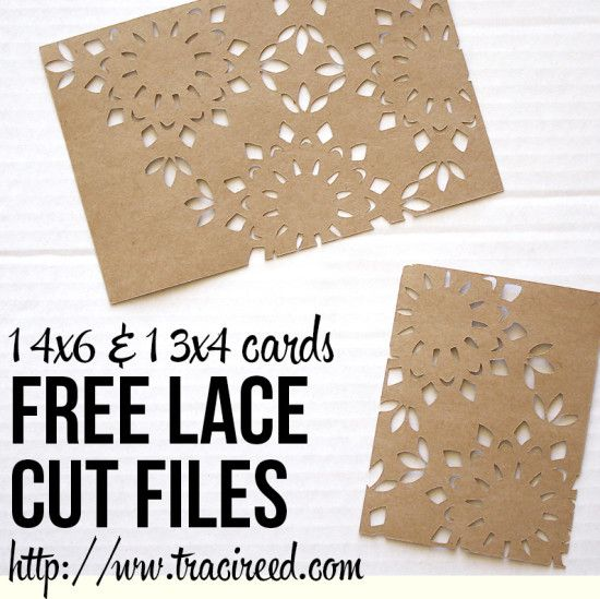 Free Silhouette Cut Friday: Lace Cards!