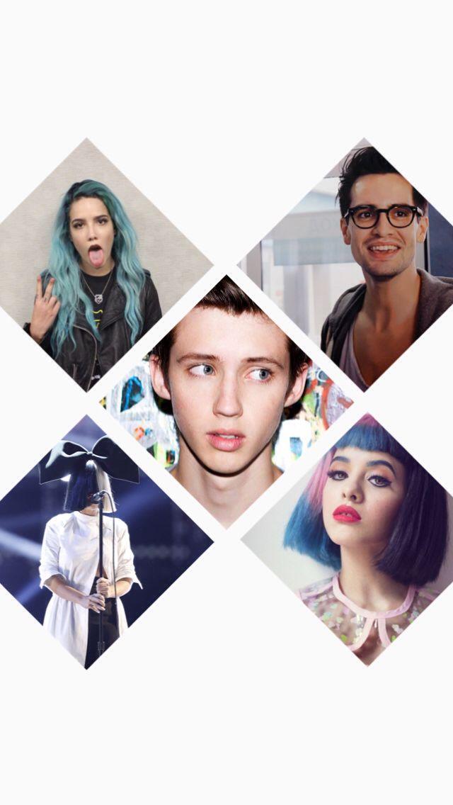 Brendon Urie, Halsey, Troye Sivan, Sia & Melanie Martinez wallpaper for iPhone 5c