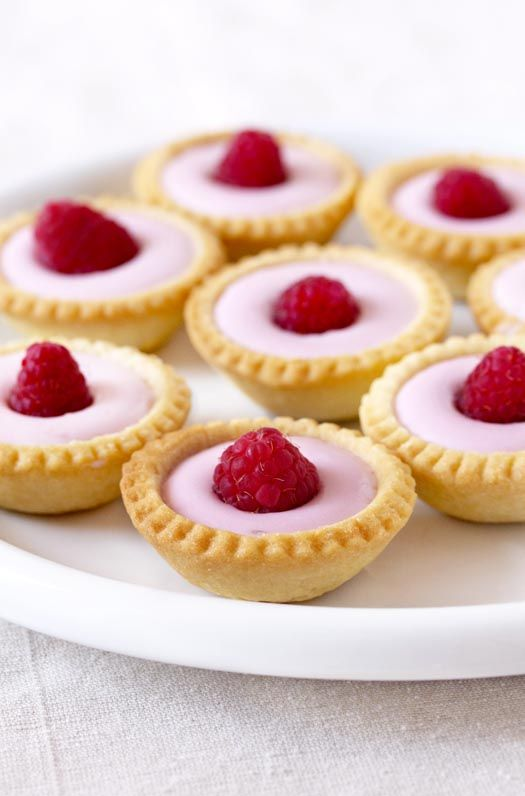 Tartlets with Yogurt Mousse and Raspberries, plus a tutorial on making tart shells.