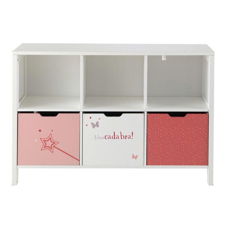 Cabinet rangement enfant 6 casiers Stella