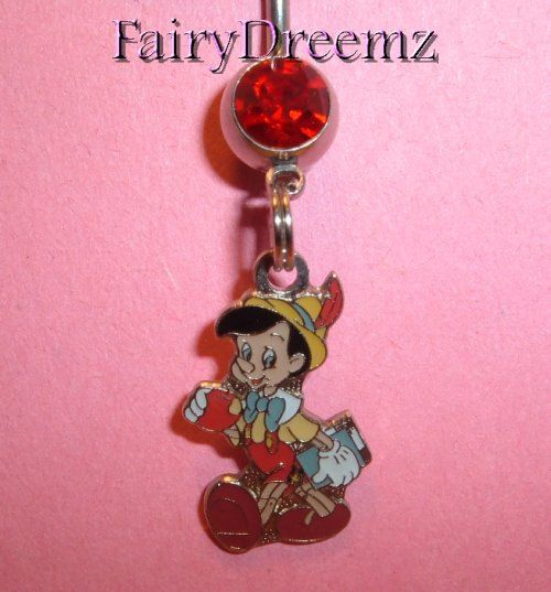 PINOCCHIO the Wooden Boy Disney Belly Navel Ring by FairyDreemz