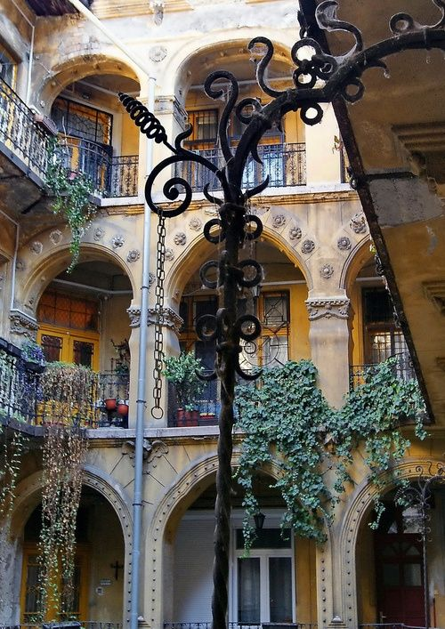 Ancient Courtyard, Budapest, Hungary - Click image to find more Architecture Pinterest pins