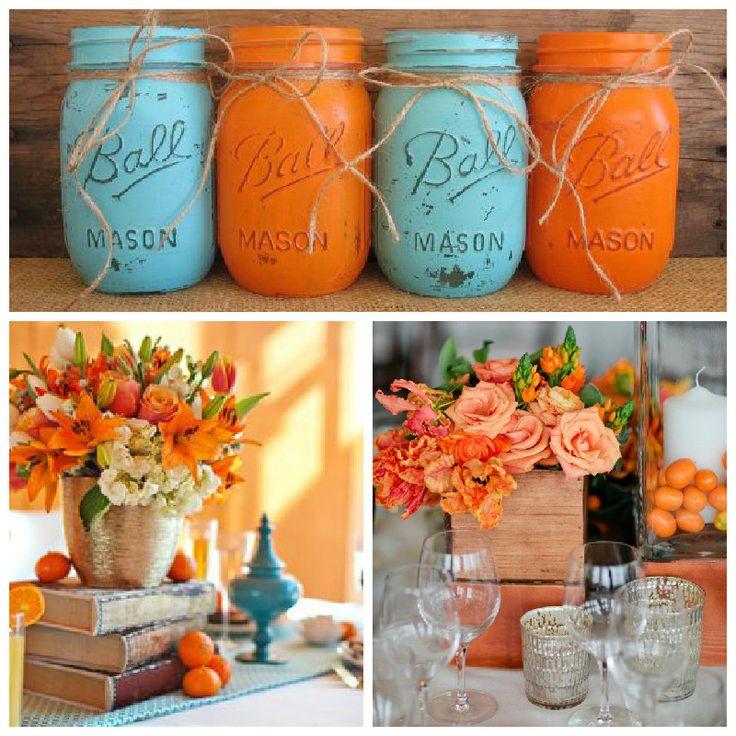 Decoraci n para boda con detalle en color tangerine - Mandarina decoracion ...