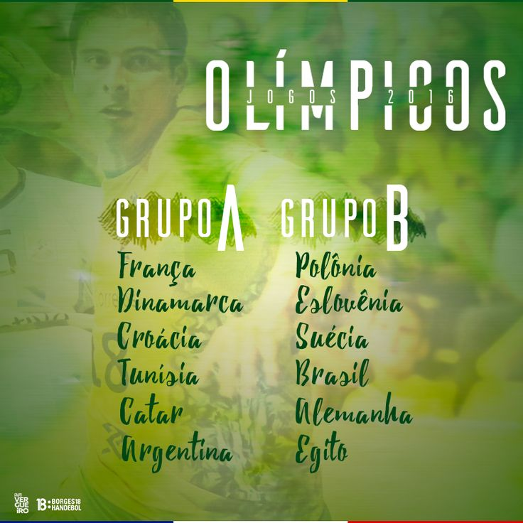JOGOS OLÍMPICOS RIO 2016 GRUPOS HANDEBOL MASCULINO #ArenaDoFuturo #Borges18 #Borges #HandebolBrasil  #BorgesHandebol #MHB #IplaySport #Iplay #IplayHandball #Guerreiros #BancoDoBrasil #BBnosEsportes #GrupoVergueiro @Iplay.global