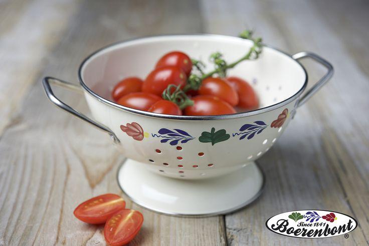 Super handig om kleine tomaatjes in af te spoelen, het vergietje van Boerenbont!