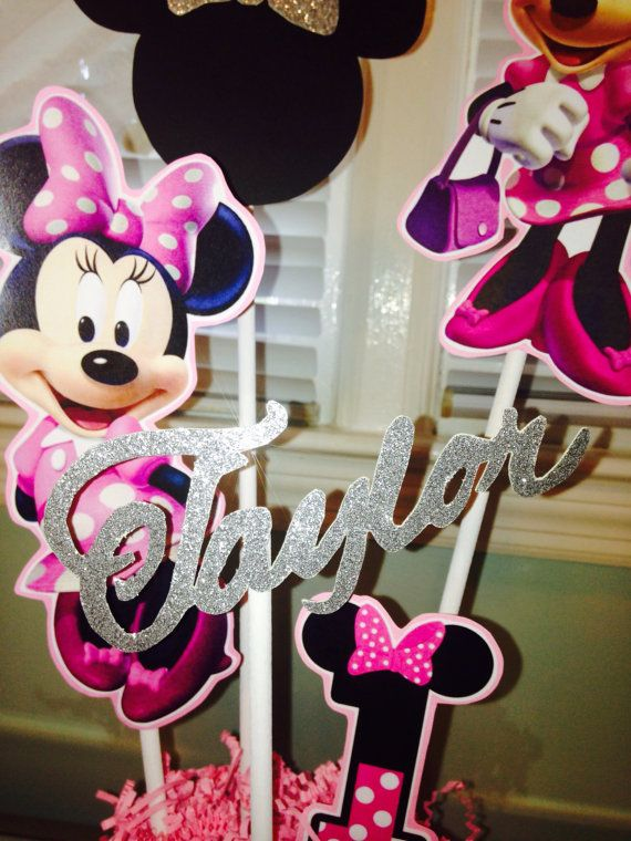 Minnie Mouse birthday centerpiece by PartiesThatArePretty on Etsy