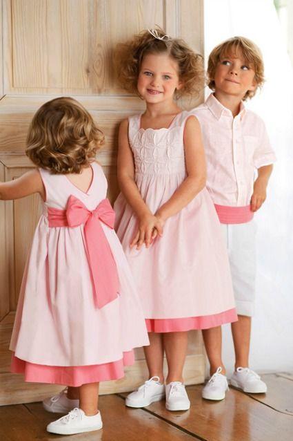 vestido rosa con cinta