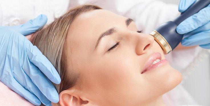 fotoodmładzanie skóry twarzy u pacjentki