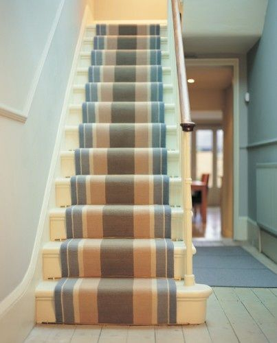 Best Striped Stair Runner In Coastal Tones Home Ideas Pinterest Runners Stairs And Stair Runners 400 x 300