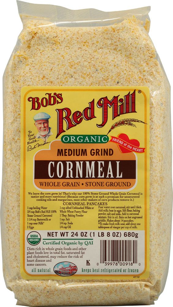 Bob S Red Mill Organic Medium Grind Cornmeal 24 Oz