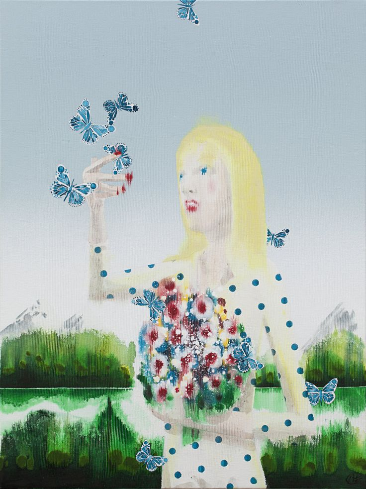 Girl with butterflys #1