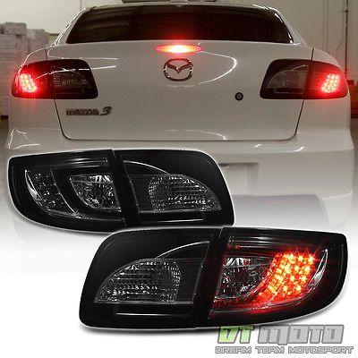 Smoked 2003-2008 Mazda 3 Mazda3 Lumileds LED Tail Lights Brake Lamps Left+Right