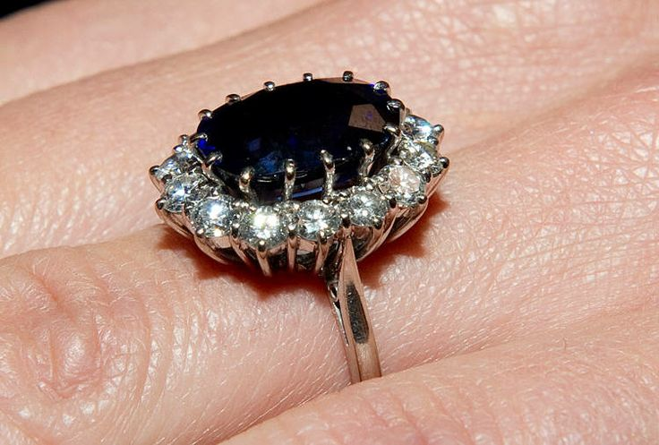 Princess Diana's engagement ring, now belongs to the Duchess of Cambridge.