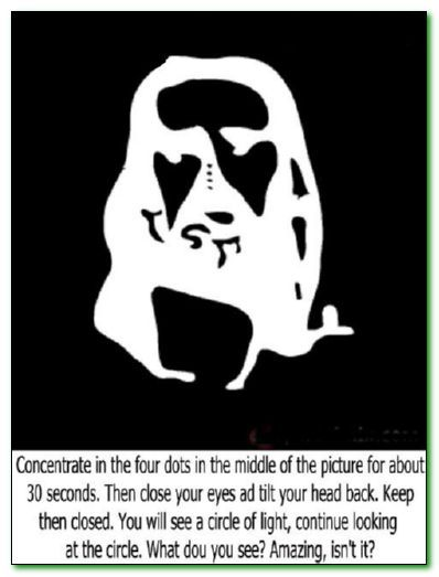 AMAZING!!!!! TRY THIS!!! This is an Optical Illusion- Follow the instructions and it really works!!!!