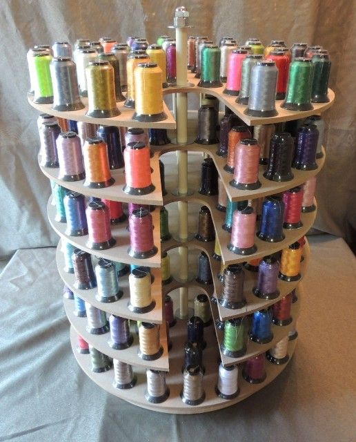 Thread Storage, Storage Ideas, Craft Storage, Embroidery Thread, Sewing  Ideas, Thread Holder, Craft Rooms, Carousels, Organizing