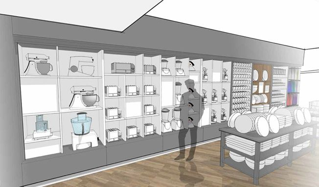 Kitchen Sneak Peek:   The new store has been designed to give you a real sense of how all our lovely, carefully chosen products will look in your own home.   #kitchen #electricals #kitchenappliances #design
