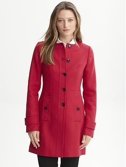 looks to be the perfect red coatFall Style, Red Collarless, Collarless Jackets, Collarless Coats, Winter Coats, Republic Red, Banana Republic, Red Coats, Bananas Republic