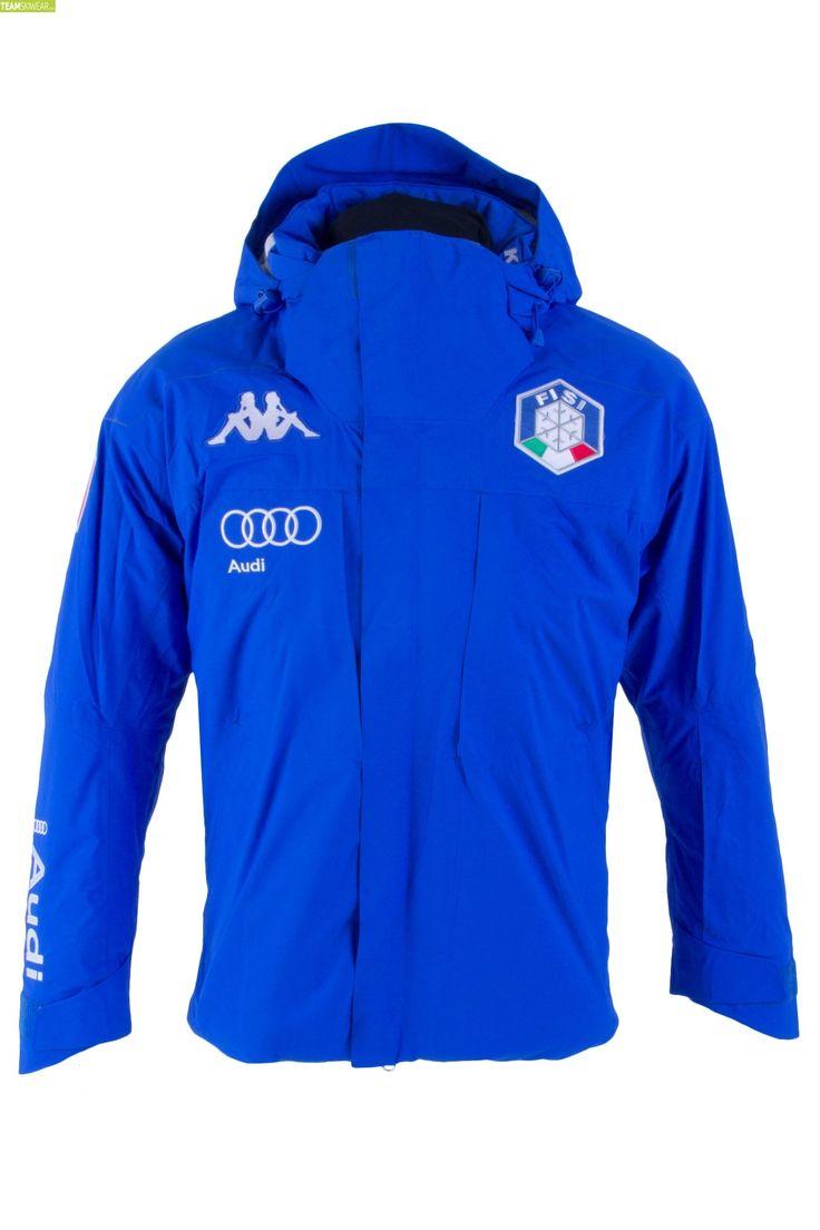 Kappa Men Italian Alpine Team FISI Jacket - Blue Princess Silver