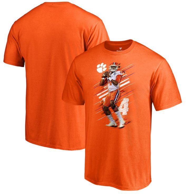 DeshaunWatson Clemson Tigers Fanatics Branded Fade Away T-Shirt - Orange