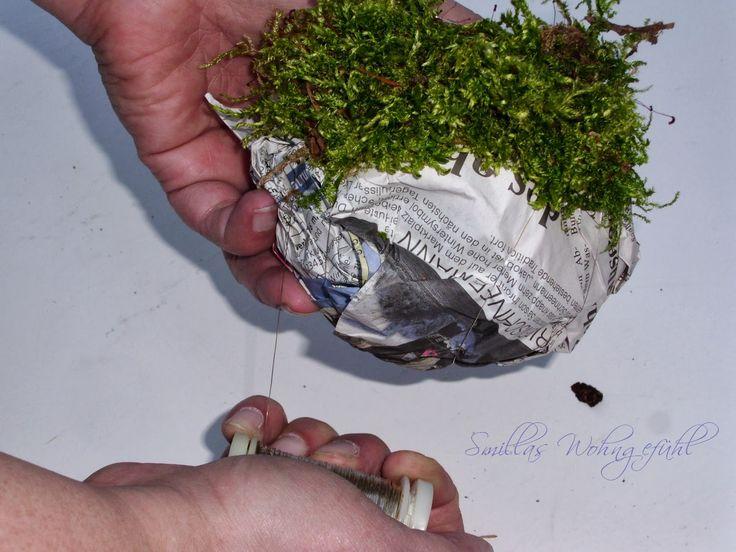 Smillas Wohngefühl: DIY:Moss ballsodergrüne Frühlingsdeko mit Mooskugeln