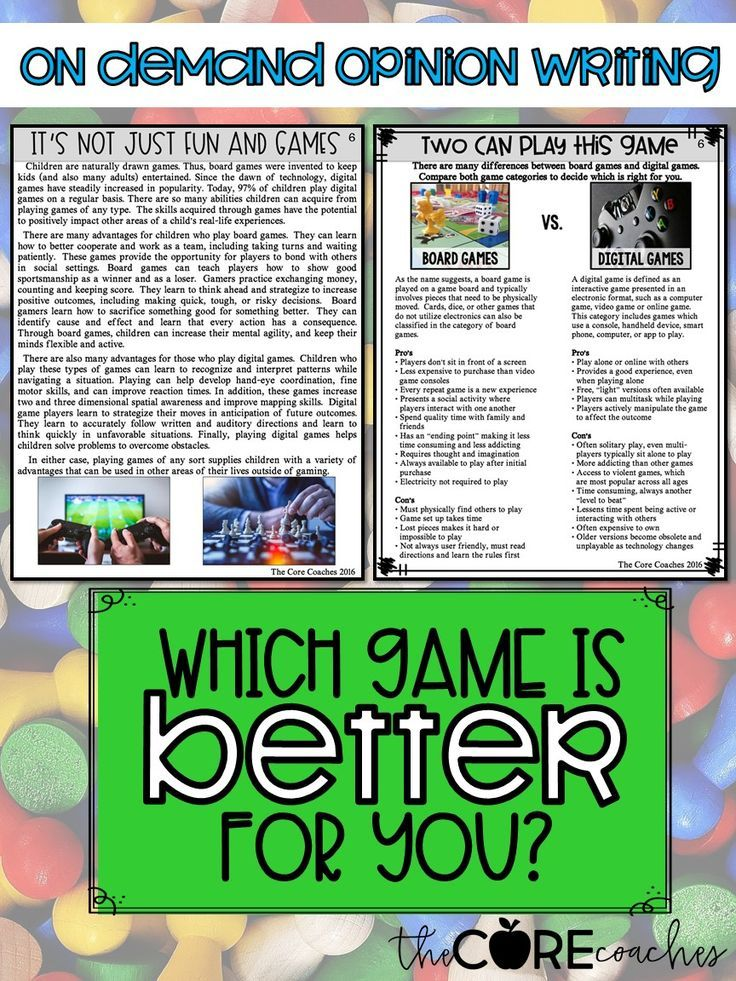 Help Your Student Form Stronger Opinion Argumentative In 6th And Create Quality Written Essay Using Writing Persuasive Explanatory Video Game Essays Best Violence