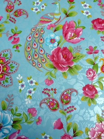 Pip Studio Flowers in the mix light blue wallpaper