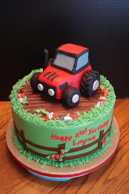 Tractor cake for Noah's birthday