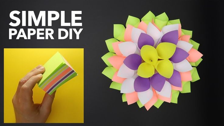 Amazing and EASY Origami tutorial. SIMPLE ORIGAMI Flower. STICKY NOTES d...