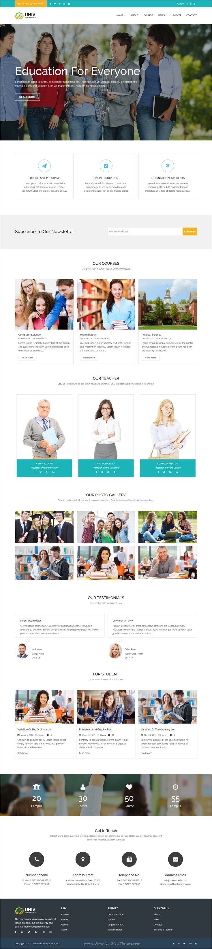 Univ is an awesome design responsive #WordPress theme for #academy, #campus, school, e-learning portal or any educational institutions website download now➩ https://themeforest.net/item/univ-education-wordpress-theme/19659022?ref=Datasata