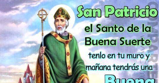 """CON SAN PATRICIO EN TU MURO LA RUEDA DE LA FORTUNA GIRA A TU FAVOR. TENLO EN TU MURO Y ESCRIBE """"AMÉN"""" PARA QUE PUEDAS GANAR LA LOTE..."""