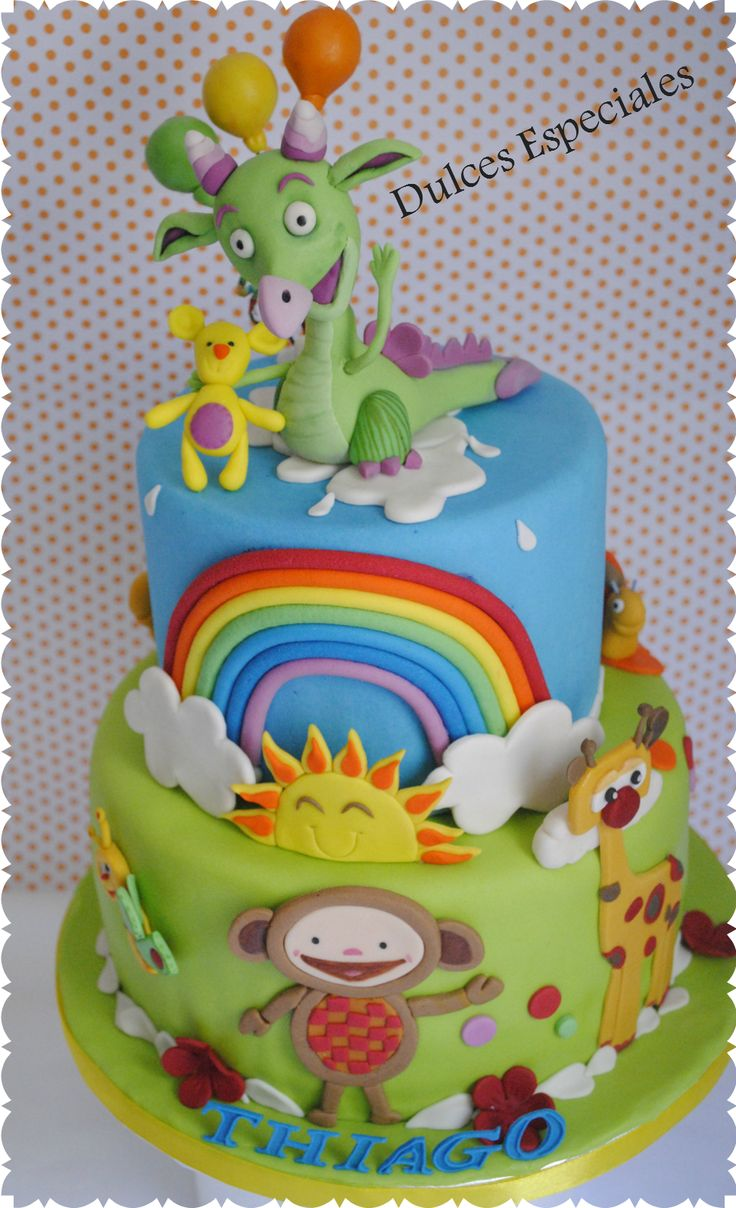 Tarta Draco y amigos . CAke DRACO and friends from Baby TV