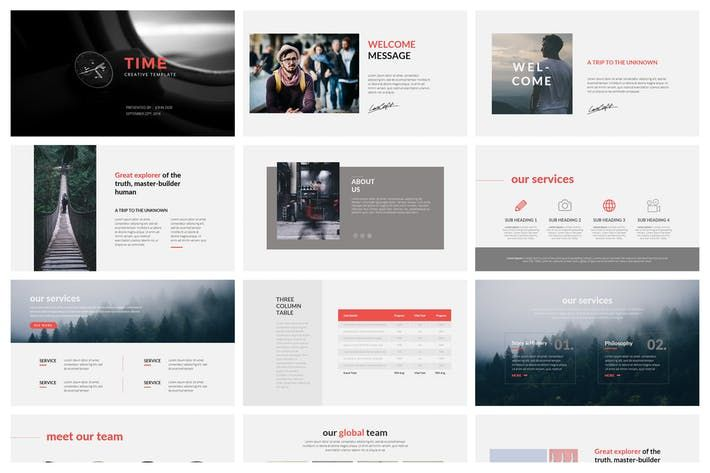 Time Powerpoint Template By Graphix Shiv On Envato Elements Powerpoint Templates Keynote Template Presentation