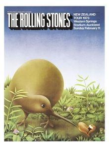 """Kiwi"" Vintage Rolling Stones Poster for sale at NZ Fine prints"
