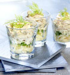 Recept » Colruyt Culinair Kleurrijk glaasje met garnalen