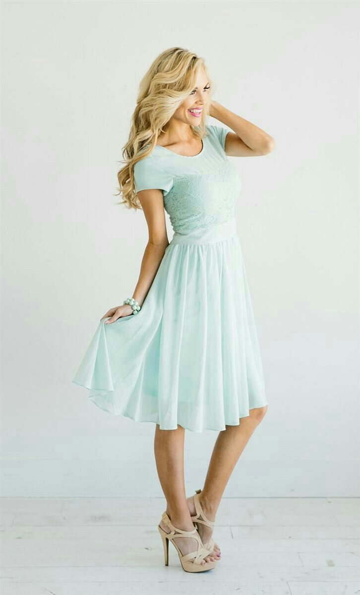 Cute blue dress with lace! Love this